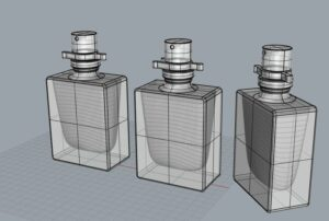 3D Rendering perfume bottle